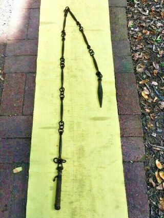 One Of A Kind Antique Chinese Mace All Iron N Sword Rapier