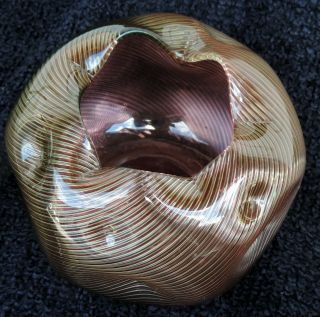 Art Glass Amber - Cranberry Form Antique 1880's