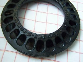"""Extremely Rare Vtg Antique Cast Iron """" Chick - O - Ring """" Chicken Feeder Vgc"""