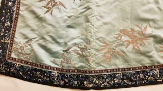 Chinese Embroidered Woman ' s Antique Robe With Prunus And Ruyi,  19th C 11