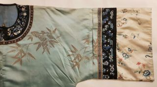 Chinese Embroidered Woman ' s Antique Robe With Prunus And Ruyi,  19th C 3