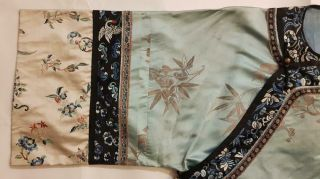 Chinese Embroidered Woman ' s Antique Robe With Prunus And Ruyi,  19th C 5