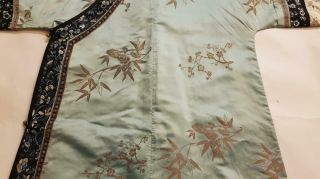 Chinese Embroidered Woman ' s Antique Robe With Prunus And Ruyi,  19th C 8