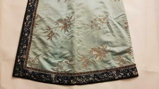 Chinese Embroidered Woman ' s Antique Robe With Prunus And Ruyi,  19th C 9