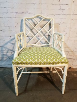 Chippendale Faux Bamboo Dining Chairs,  lacquered wood Chinese Chippendale 4