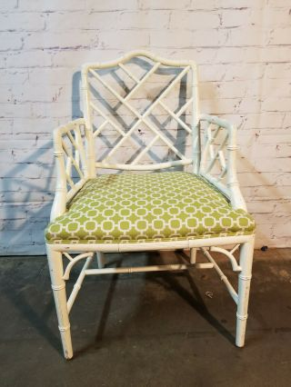 Chippendale Faux Bamboo Dining Chairs,  lacquered wood Chinese Chippendale 7