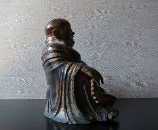 VERY RARE CHINESE ANTIQUE GILT BRONZE FIGURE OF A BUDAI MING DYNASTY? 10