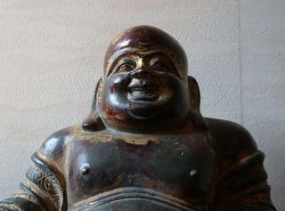 VERY RARE CHINESE ANTIQUE GILT BRONZE FIGURE OF A BUDAI MING DYNASTY? 3