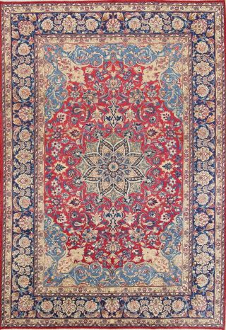 Traditional Oriental Area Rugs Hand - Knotted Wool Floral Carpet 9 X 12 Stunning