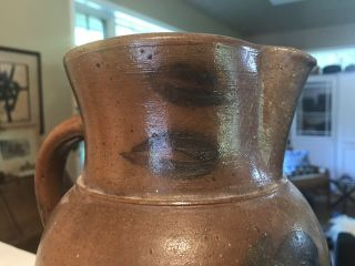 Antique Shenandoah Valley Virginia Decorated Stoneware Pottery PITCHER crock 8