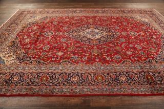 Vintage Traditional Floral Oriental Area Rug Hand - Knotted Wool Red Carpet 10x13
