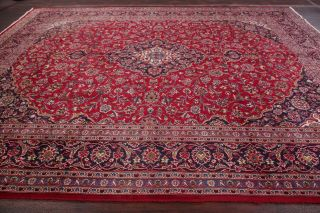 Vintage Traditional Floral Oriental Area Rug Hand - Knotted Wool Red Carpet 10x12