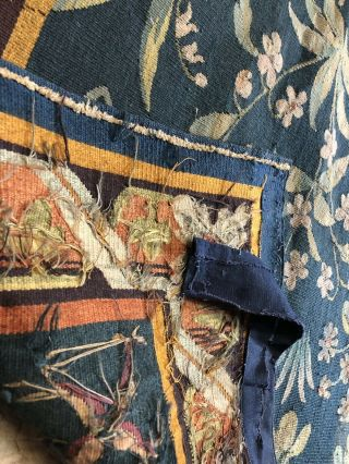 Auth: 19th C French Tapestry 6x8 Wool & Silk Beauty Gothic Revival ANTIQUE NR 8