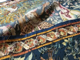Auth: 19th C French Tapestry 6x8 Wool & Silk Beauty Gothic Revival ANTIQUE NR 9