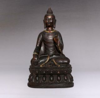 Large Fine Old Antique Chinese Bronze Buddha Statue - 28cm