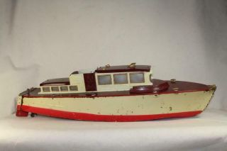 "Orkin 30 "" Orkin Craft Yacht Cabin Cruiser Tin Toy Boat"