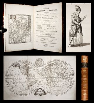 1779 Carver Universal Traveller 56 Maps,  Plates America China India Russia Folio