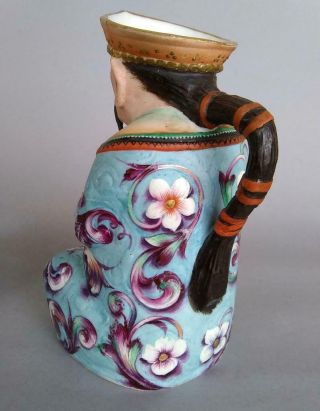 Antique Jean Gille French Porcelain Asian Man Woman Jug Figurine Creamer Chinese 5