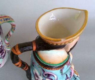 Antique Jean Gille French Porcelain Asian Man Woman Jug Figurine Creamer Chinese 7