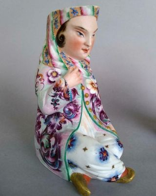 Antique Jean Gille French Porcelain Asian Man Woman Jug Figurine Creamer Chinese 9