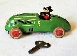 Early Lindstrom Toys Wind - Up Mickey Mouse Race Car 30