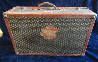 Goyard Suitcase Sized Trunk with Assorted Travel Labels 3