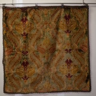 Victorian Tapestry With Center Medallion 19th Century.
