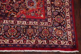 Vintage Traditional Floral Kashmar Oriental Area Rug Hand - Knotted Red 10x13 Wool