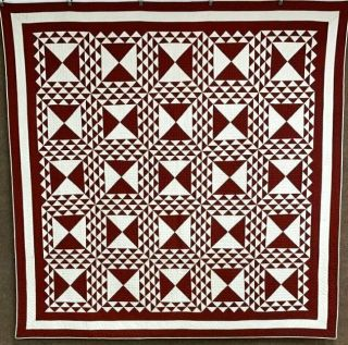 Pa C 1890 - 1900 Lady Of The Lake Quilt Antique Ox Red Mennonite