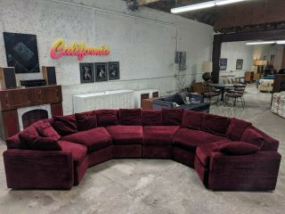 Mid Century Vintage Sofa In The Style Of Milo Baughman