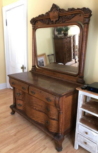 Ch034: American Dresser And Mirror Local Pickup