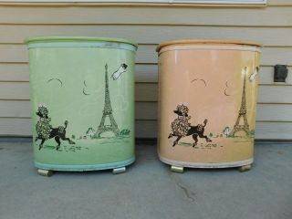 Vintage Pair Retro 1950s His Hers French Poodle Paris Jeweled Pearl - Wick Hampers