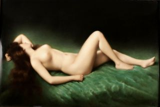 KPM Porcelain Plaque full Nude beauty Bach,  Asti,  hand painted,  Signed 19th C. 12