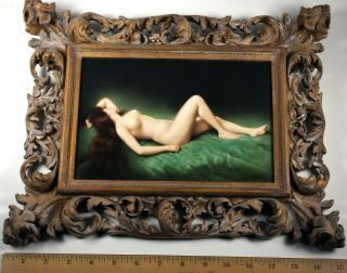 Kpm Porcelain Plaque Full Nude Beauty Bach,  Asti,  Hand Painted,  Signed 19th C.