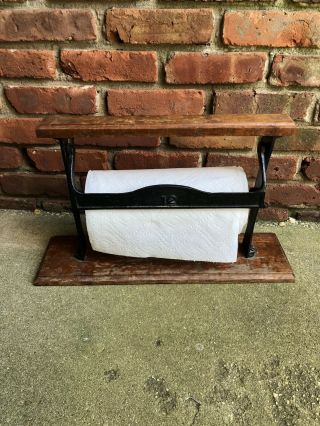 Antique Kitchen Paper Towel Butcher Holder