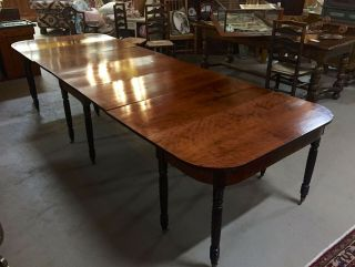 Antique 3 - Part Federal/Sheraton Mahogany Dining/Banquet Table c1820s—Magnificent 2