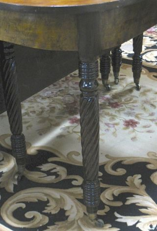 Antique 3 - Part Federal/Sheraton Mahogany Dining/Banquet Table c1820s—Magnificent 5