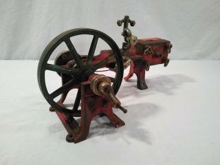 Rare Old Vitg Antique Kenton Cast Iron Horizontal Steam Engine Toy Model