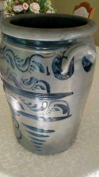 Decorated stoneware crock - Greensboro Pa 3