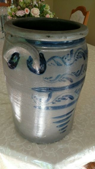 Decorated stoneware crock - Greensboro Pa 4