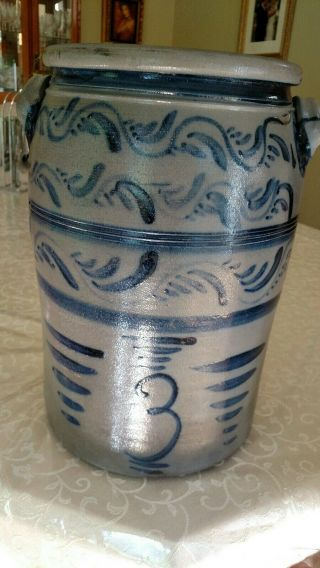 Decorated stoneware crock - Greensboro Pa 6