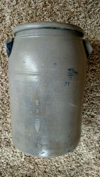 Decorated stoneware crock - Greensboro Pa 8