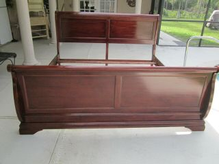 King Size Sleigh Head Board Foot Board And Rails Wood Not