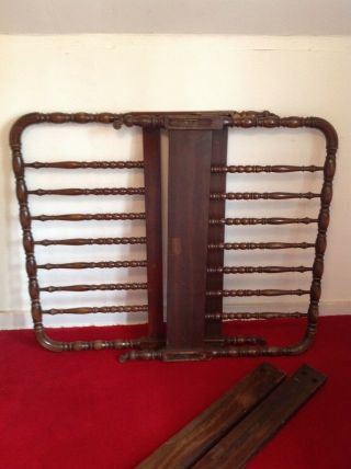 Antique Single Twin Size Spindle Bed