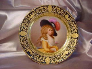 """Magnificent 9 1/2 """" Portrait Plate With Old Beehive & Devonshire Mark"""