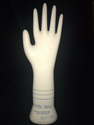 Vintage Ceramic Hand Glove Mold General Porcelain Trenton Nj Extra Small 1987