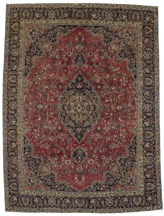Traditional Style Semi Antique 9x12 Handmade Oriental Area Rug Home Décor Carpet