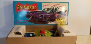 Rare Asc Aoshin Gama Japan Tin Toy 5900 Batmobile Near Mib Germany Batman Car
