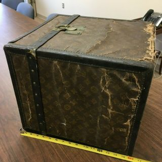 Vintage Louis Vuitton Square Trunk Or Hatbox