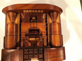 Po Shun Leong 1993 Hand Crafted Wood Jewelry Box Signed 1993 11